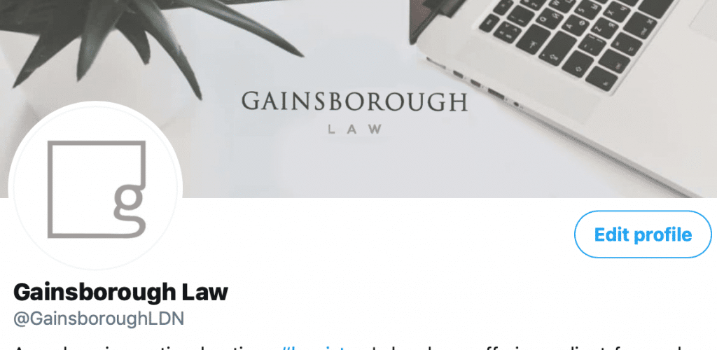 Gainsborough Law Twitter Account