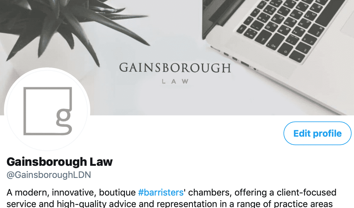 Gainsborough Law Twitter Account